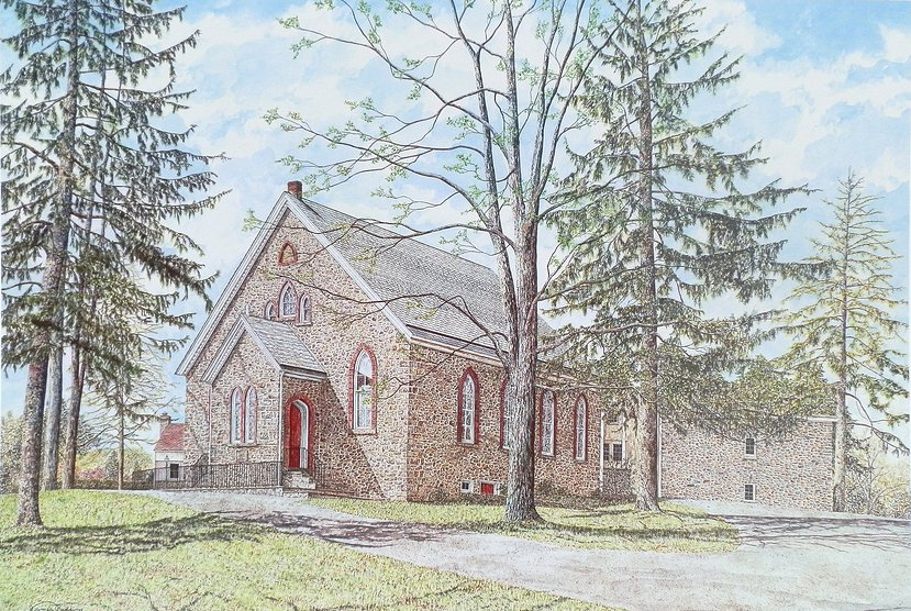 Thompson Church offset print by James Redding