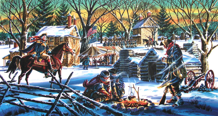 Valley Forge Winter Giclee by William Ressler