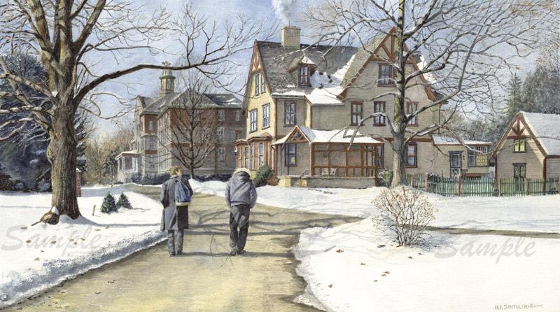 Winter Walk to Class by Nick Santoleri