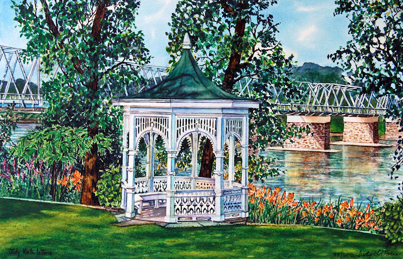 Washington Crossing Gazebo by Judy Kieta LaTorre