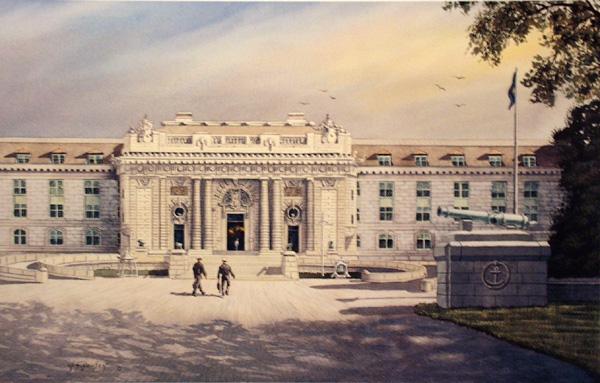 Bancroft Hall - United States Naval Academy by William Dawson