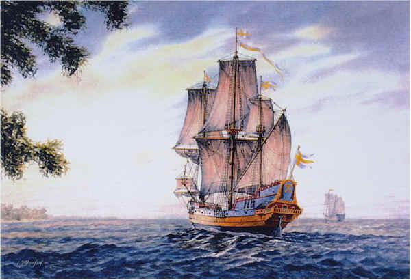Kalmar Nyckel - 1638 by William Dawson