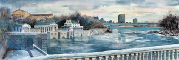 Skyline of Philadelphia by Linda McNeil