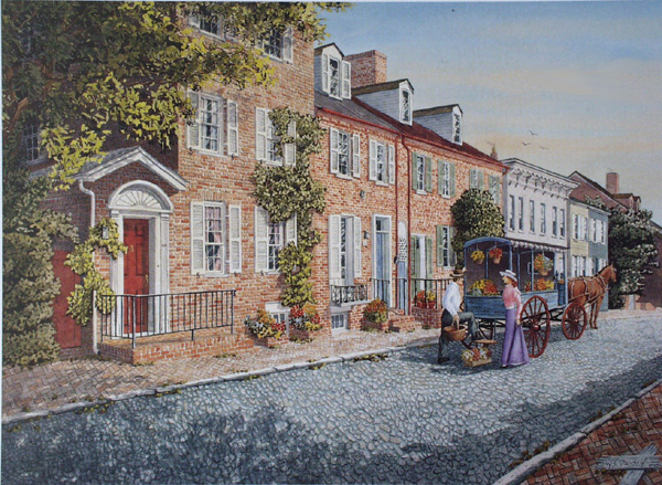 Summer Flowers-Cornhill St. Annapolis by William Dawson