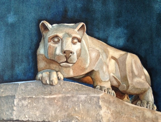 Penn State University Nittany Lion Hail To The Lion by Moss Adams