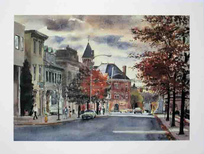 """Court Steet Doylestown"" by Ranulph Bye"