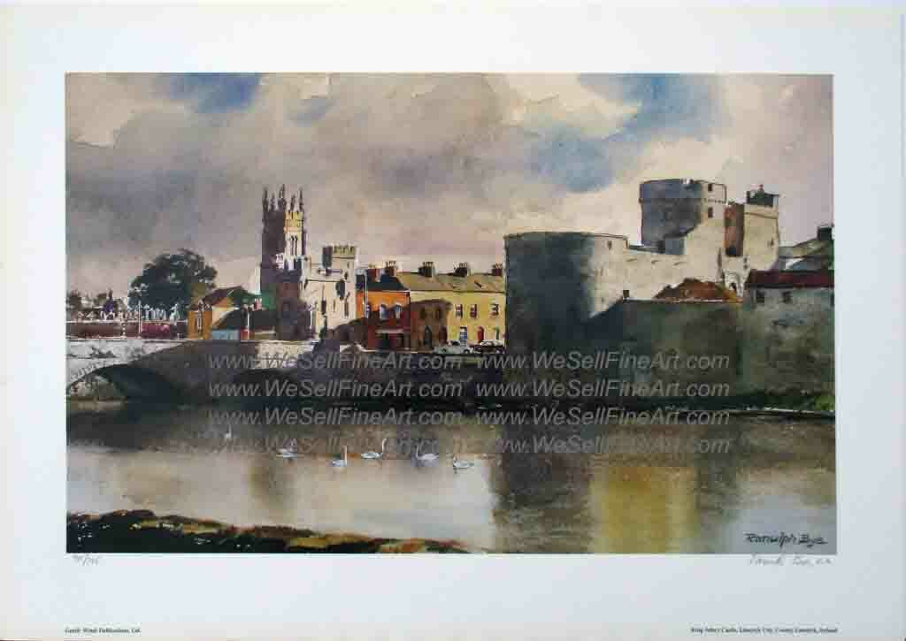 """King Johns Castle"" by  Artist Randulf Bye"