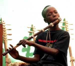 Sylvain Leroux Fula flute student