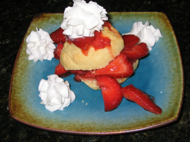 Healthy Hamburger and Fries even Strawberry Shortcake!