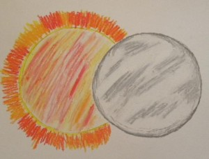sun and moon drawing