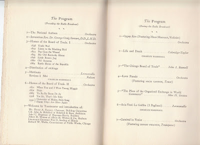 CBOT 1930 opening banquet program