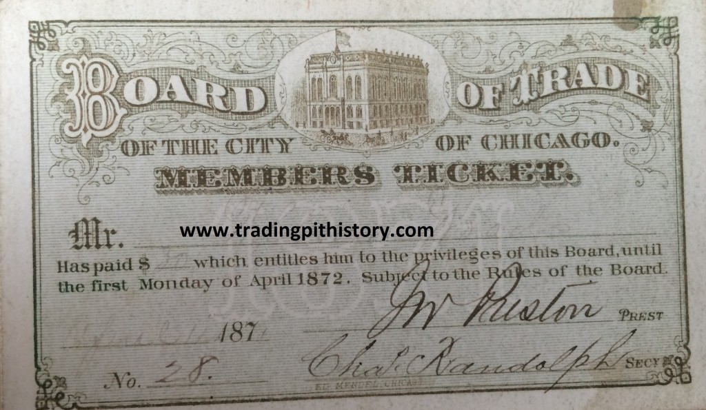1871 CBOT members ticket