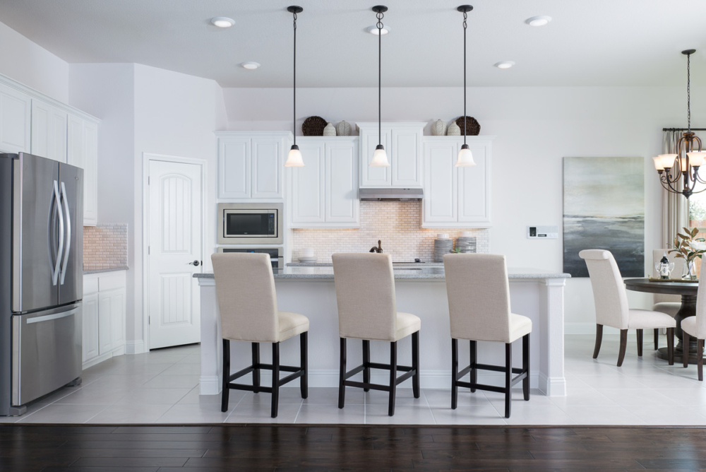 Cabinet Specialists Kitchen with white cabinets