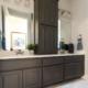Bathroom vanity in Umber