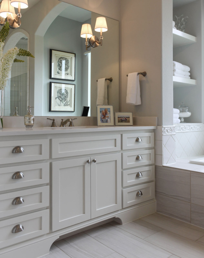Primary bath white shaker
