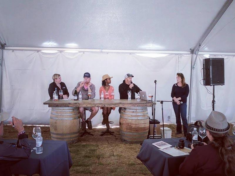 Sommelier LaSaan as TX wine panelist
