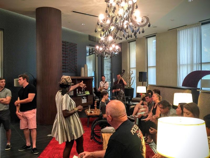 Spirits specialist LaSaan engaging audience