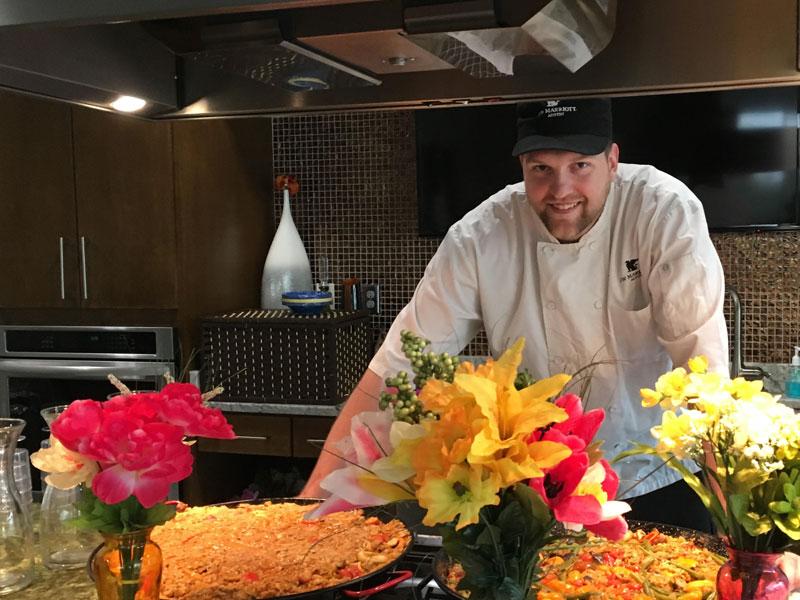 Chef Walter Ashcraft in action