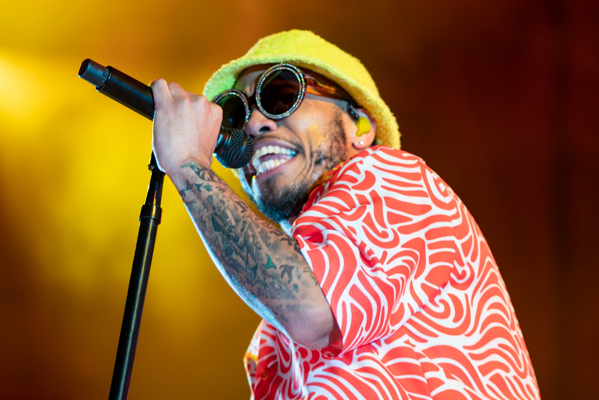 Anderson .Paak. Hunting Bank Pavilion. Photo by- Kevin Baker @ImKevinBaker. Chicago, Il. ChicagoMusic.com