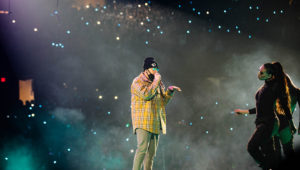 Bad Bunny. Allstate Arena. Photo by Kevin Mares. ChicagoMusic.com
