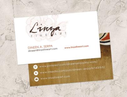 2015 Business Cards Linza Fine Art