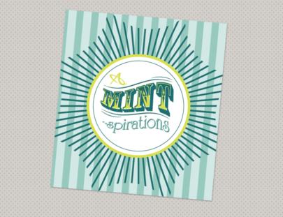 Allegra Mint Sales Label - grey dot background