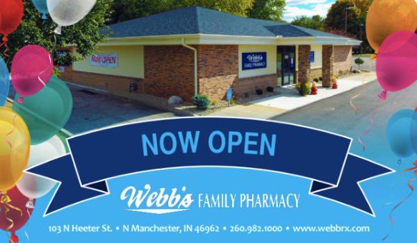 Webb's Family Pharmacy Postcard Design