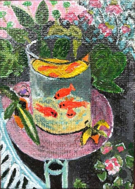 Rendition of Matisse's Gold Fish by Susan