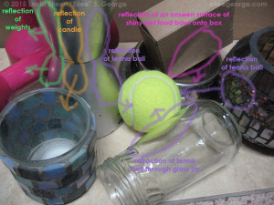 Reflect/Refract form study w/ notes