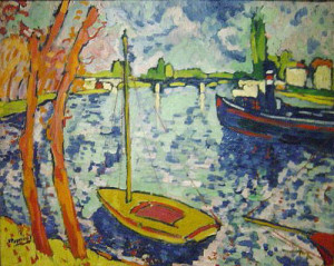 """""""The River Seine at Chatou"""", 1906, by Maurice Vlaminck"""