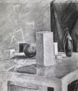 Form still life, shaded, student work