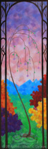 "Digital image of a detail of the acrylic painting entitled ""Spring"" by L. ""Eilee"" S. George"