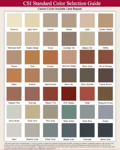 Standard Helix Cement Color Chart