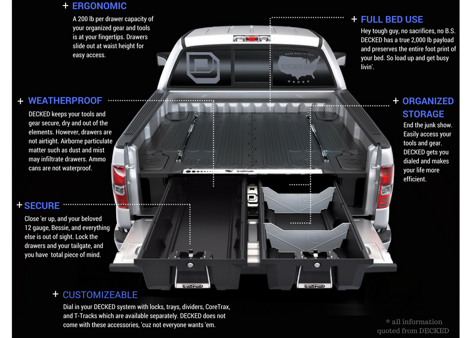 Pickup Truck Bed Organizers