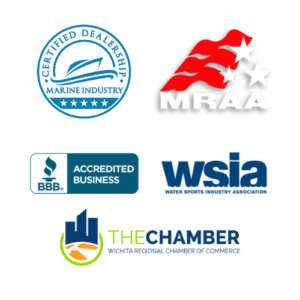Members of Marine Retailers Association of America, Better Business Bureau, Water Sports Industry of America, Wichita Chamber of Commerce and we are a Marine Industry Certified Dealership.