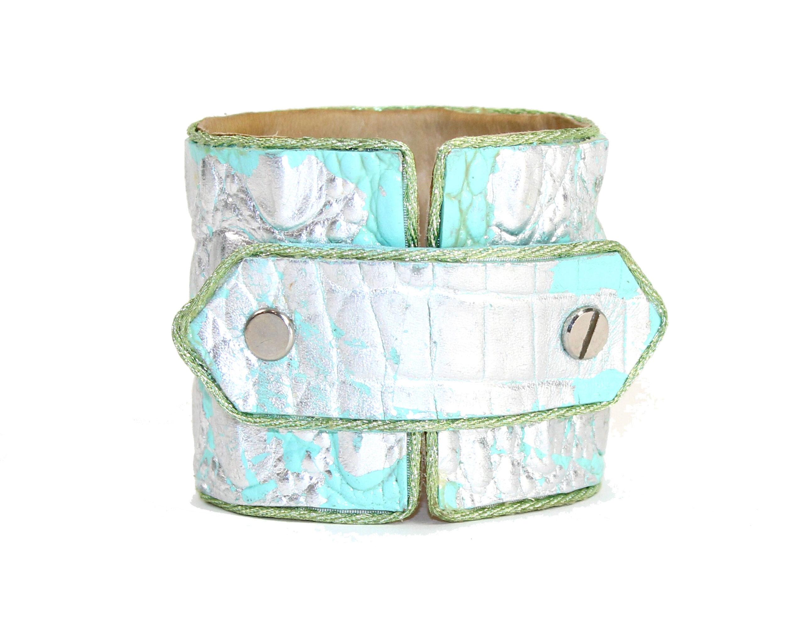 Aqua & Silver Lief Cuff | $449