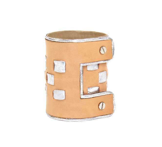 Kate Younger Designs Highway Lines Cuff - Natural & Silver