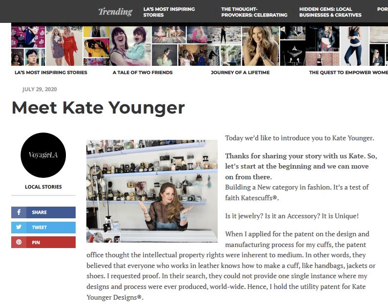 Kate Younger Article - Voyage LA Magazine