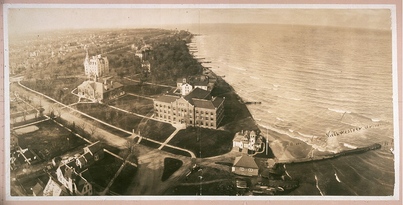 This image has an empty alt attribute; its file name is George-R.-Lawrence-Co.-Birds-eye-view-of-Northwestern-University-c.-1907-Library-of-Congress..jpg