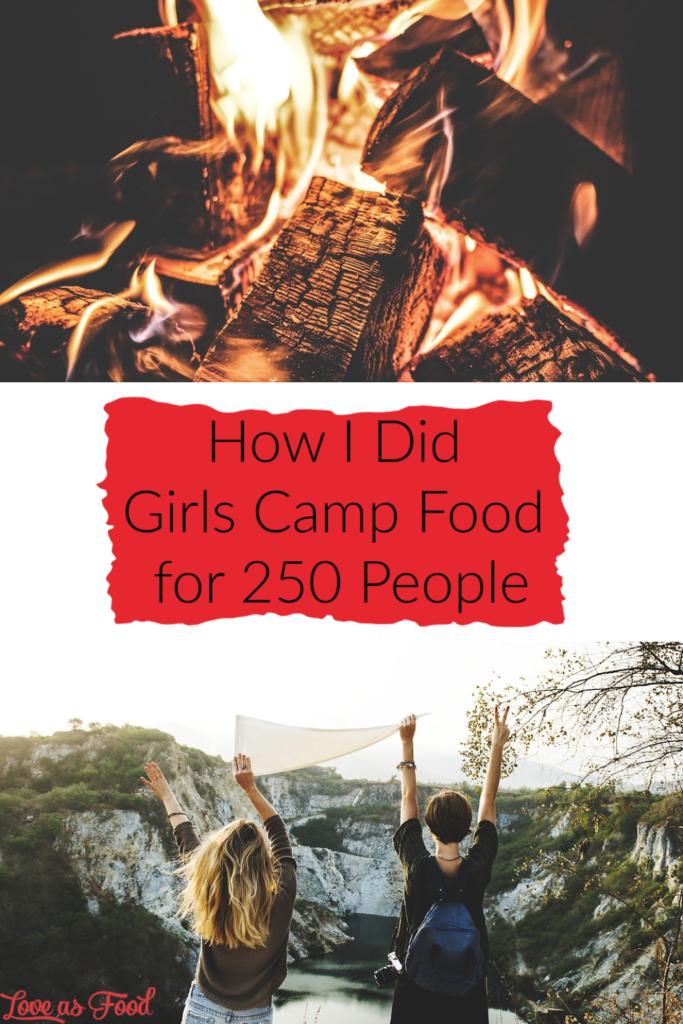 girls camp food