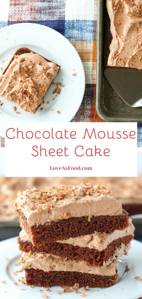 chocolate mousse sheet cake