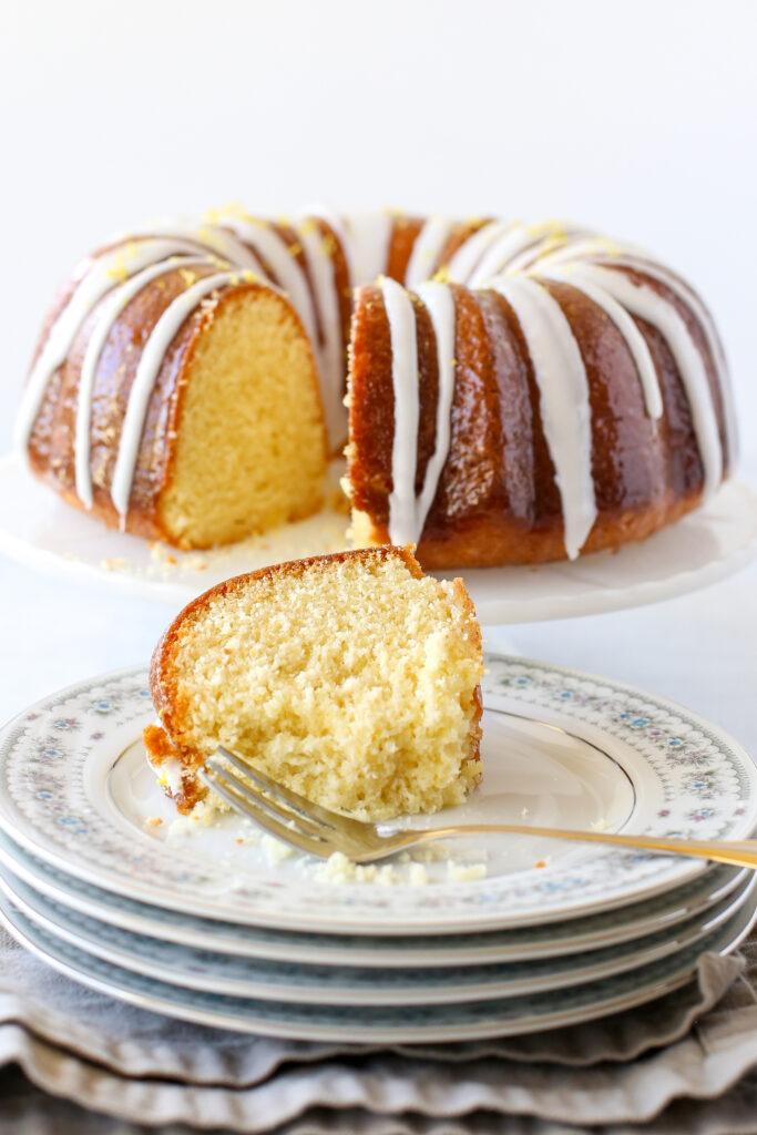 double lemon bundt cake