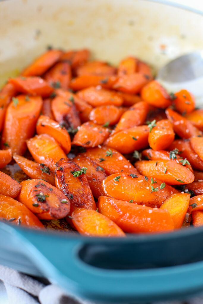 spicy honey-glazed carrots