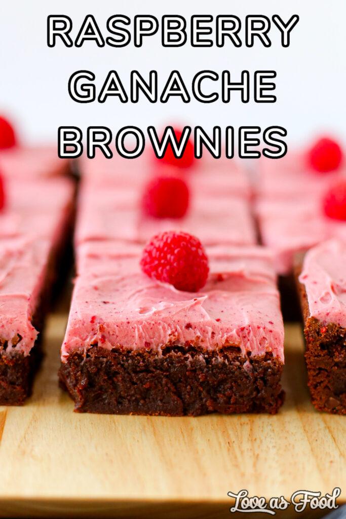 raspberry ganache brownies