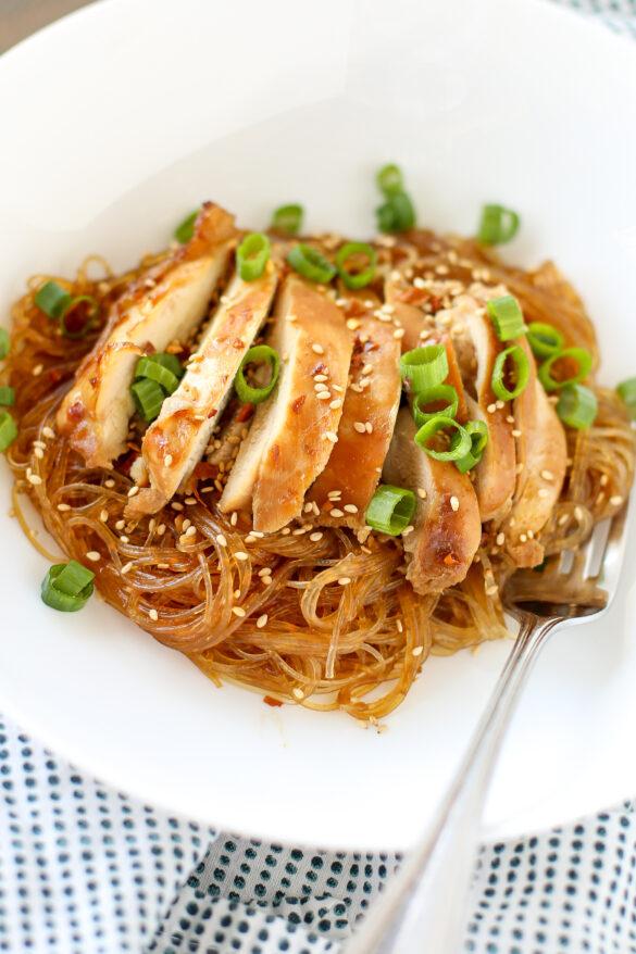 Nadiya Hussain's teriyaki chicken noodles