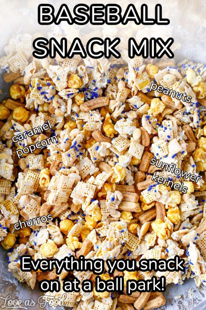 baseball snack mix