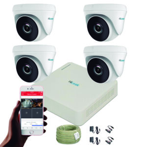Kit Cctv Hilook Turbo Hd Dvr 4ch Cámaras De Seguridad