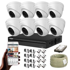 KIT CCTV DAHUA DVR PENTAHIBRIDO KIT-3