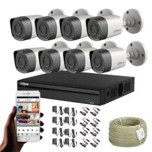 KIT CCTV DAHUA DVR PENTAHIBRIDO KIT-10
