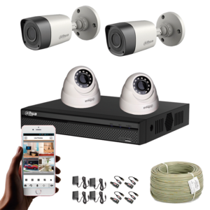 KIT CCTV DAHUA DVR PENTAHIBRIDO KIT-5